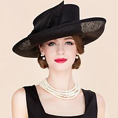 cheap Party Headpieces-Flax Fabric Fascinators Hats Headpiece