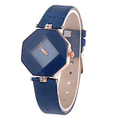cheap -Women's Leather Band Analog Quartz Rhombus Case  Wrist Watch Fashion Watch Cool Watches Unique Watches Strap Watch