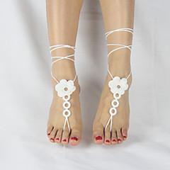 tanie Piercing-Łańcuszek na kostkę - Damskie White Różowy Khaki Łańcuszek na kostkę Na Ślub Impreza Casual