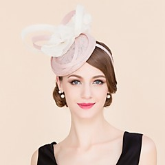 cheap Party Headpieces-Flax Silk Hats 1 Wedding Special Occasion Casual Headpiece