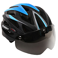 cheap Bike Helmets-MOON Adults Bike Helmet Aero Helmet 25 Vents CE Impact Resistant, Light Weight, Adjustable Fit EPS, PC, EVA Sports Road Cycling / Recreational Cycling / Hiking - Red+Black / Bule / Black / Black