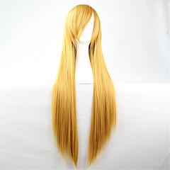tanie Peruki syntetyczne-Peruki syntetyczne Prosto Kinky Straight Gęstość Bez czepka Damskie Blond Karnawałowa Wig Halloween Wig Włosy syntetyczne