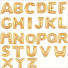 40 Inch Gold Alphabet Letter Balloon Beter Gifts® Happy Birthday Party Decoration