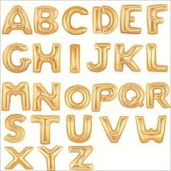 40 polegadas ouro alfabeto carta balão beter gifts® feliz aniversario festa decoração