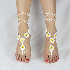 baratos Bijoux de Corps-Tornezeleira - Flor Original, Estilo simples, Fashion Amarelo / Vermelho / Verde Para Casamento Festa Casual Mulheres