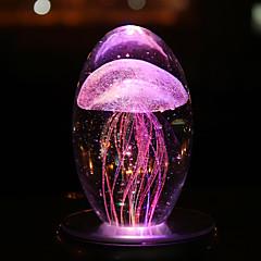 billiga Dekorativ belysning-nattljus bordslampa färgglada maneter nattljus roman kristall hantverk led nattlampa ljusstrålning ljusgife