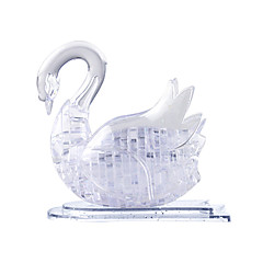 3D Puzzles / Crystal Puzzles For Gift  Building Blocks Model & Building Toy Swan ABS Below 3 Transparent Toys