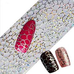 1pcs 100cmx4cm Glitter Nail Foil Sticker Beautiful Lace Flower Leaf Feather Image Nail Decorations DIY Beauty STZXK16-20
