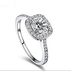 Women's Band Rings Fashion Costume Jewelry Silver Sterling Silver Jewelry For Daily Casual