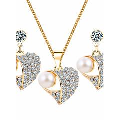 Conjunto de jóias Mulheres Aniversário / Casamento / Noivado / Presente Conjuntos de Joalharia LigaEsmeralda / Ametista / Imitação de