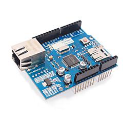 رخيصةأون -نسخة مطورة إيثرنت W5100 R3 شبكة الدرع مجلس دعم أونو / mega2560