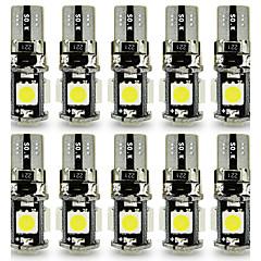 billige Kjørelys-10pcs T10 Bil Elpærer 3 W SMD 5050 120 lm 5 LED Blinklys For Universell