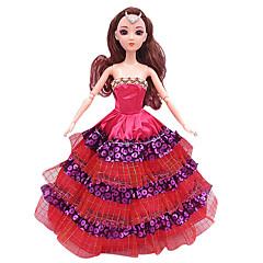 preiswerte Puppen-Puppen Puppenkleidung Spielzeuge Kostüm Rock Hochzeitskleid Abendkleid Mädchen Stücke