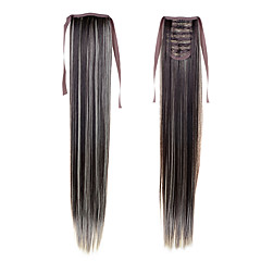 cheap Wigs & Hair Pieces-long ponytail extentions 22inch 55cm 100g 16 synthetic drawstring ponytail long silky straight ponytail