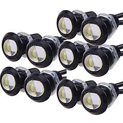10個入りが18mm 9ワット、白、赤、青、黄色はDRLバックアップ車を実行しているワシの目の光昼間を導きました