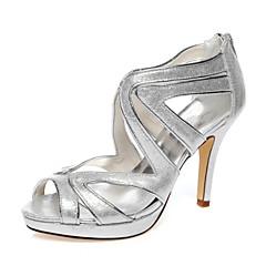 Dame Primăvară Vară Toamnă Platforme PU Nuntă Rochie Party & Seară Toc Stiletto Sclipici Strălucitor Argintiu