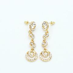 Žene Viseće naušnice Umjetno drago kamenje Moda Personalized Umjetno drago kamenje Legura Circle Shape Jewelry Jewelry Za Vjenčanje