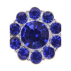 Sirkelformet Geometrisk Form Perle Fuskediamant Legering Europeisk Hvit Gul Grønn Blå Rosa Smykker Til 1 stk