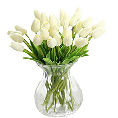 cheap Home Decor-Artificial Flowers 1 Branch Modern Style Tulips Tabletop Flower