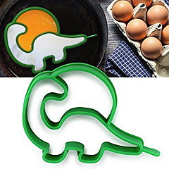 baratos Utensílios de Ovo-Silicone dinossauro shaper panqueca anel ovo frito molde ovo moldes de cozinha ferramentas