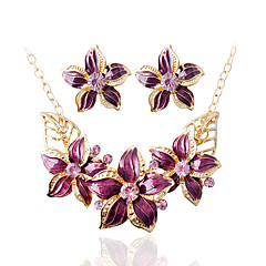Women's Bridal Jewelry Sets Wedding Party Daily Earrings Necklaces