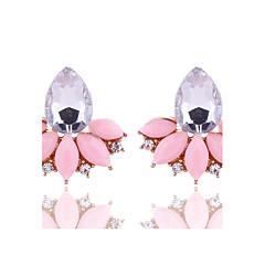 cheap Earrings-New Arrival Summer Women Fashion Jewelry Cute Pink Stud Earrings Rhinestone Crystal Earrings for Women