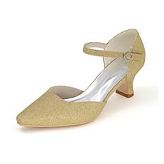 Damen-High Heels-Hochzeit / Party & Festivität-Glanz-Blockabsatz-Quadratische Zehe-Schwarz / Blau / Rot / Silber / Gold