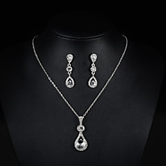 Women's Necklace/Earrings Bridal Jewelry Sets Cute Party Fashion Wedding Party Rhinestone Earrings Necklaces