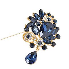 kvinders krystal blomst broche til bryllupsfest dekoration tørklæde, fine smykker