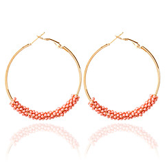 1pair/White/pink/Blue/Black/White/gold Hoop Earrings forWomen
