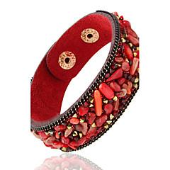 cheap Bracelets-Leather Bracelets 1pc,Black / White / Red / Blue / Brown / Green / Purple Bracelet Personality Geometric Alloy Jewellery