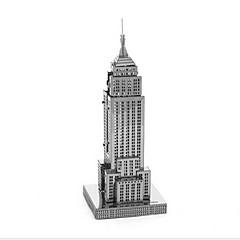 baratos -Quebra-Cabeças 3D Brinquedos de Montar Brinquedos Construções Famosas edifício Empire State Faça Você Mesmo Metal Para Meninos Para
