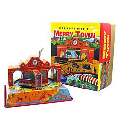Verlicht stress Doen alsof-spelletjes Opwindspeelgoed Speelgoedauto's Speeltjes Vierkant Bus Metaal 1 Stuks Kerstmis Verjaardag Kinderdag