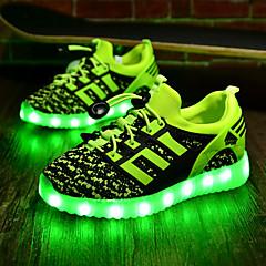 Para Meninos sapatos Tecido Primavera Outono Tênis com LED Conforto Tênis LED para Atlético Preto Verde Azul Real Vermelho
