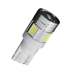 10x xenon hvit t10 side kile samsung 5630 6smd LED lisens kartet lys W5W 2825