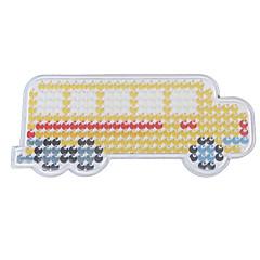 1buc șablon margele Perler clar pegboard galben model autobuz școlar pentru margele 5mm HAMA fuzioneze margele