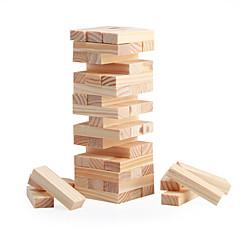 Desková hra Dřevěný blok Stohovací věž Hračky Obdélníkový Mini Klasické Dívky Chlapci 48 Pieces