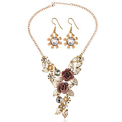 cheap -Women's Bridal Jewelry Sets Wedding Party Earrings Necklaces
