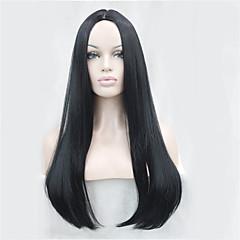 billiga Peruker och hårförlängning-Syntetiska peruker Rak Syntetiskt hår Peruk Dam Lång Capless peruker / Naturlig peruk / Halloween Paryk Utan lock
