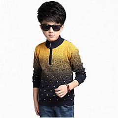 billige Sweaters og cardigans til drenge-Børn Drenge Blomster Jacquard Vævning Langærmet Bomuld Trøje og cardigan