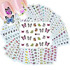 baratos -50pcs diferentes estilos de moda flores padrão prego de transferência arte da água adesivos