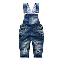 baratos Roupas de Meninos-Bébé Para Meninos Sólido Sem Manga Algodão Calças / Jeans