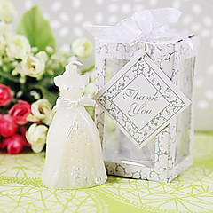 cheap Candle Favors-Bridal Wedding Dress Candle Favors Beter Gifts Bridesmaids / Bachelorette / Classic / Fairytale Party Giveaways