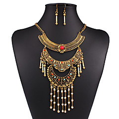 cheap Jewelry Sets-Women's Jewelry Set - Vintage, European, Fashion Include Necklace / Earrings Gold / Silver For Wedding / Party / Daily