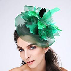 péřová čistá fascinační čelenka elegantní klasický ženský styl