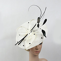 cheap Party Headpieces-Feather Net Fascinators 1 Wedding Special Occasion Headpiece