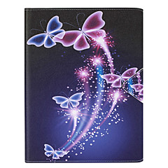 Para Porta-Cartão Capinha Corpo Inteiro Capinha Borboleta Rígida Couro PU Apple iPad Air 2 / iPad Air