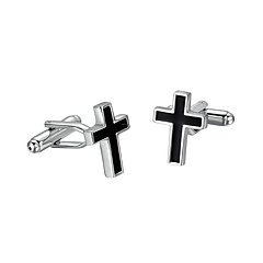 Cufflinks 2pcs,Color Block Black-White Fashionable Cufflink Men's Jewelry