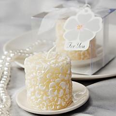 4box / set - lumânare plumeria floral-parfumată cu suport pentru lumânări ceramice beter cadouri®