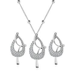 Χαμηλού Κόστους Σετ Κοσμημάτων-Γυναικεία Cubic Zirconia Κοσμήματα Σετ - Ζιρκονίτης Μποέμ, Μοντέρνα, Εμπνευστικό Περιλαμβάνω Κολιέ / Σκουλαρίκια Ασημί Για Γάμου Πάρτι Καθημερινά / Causal
